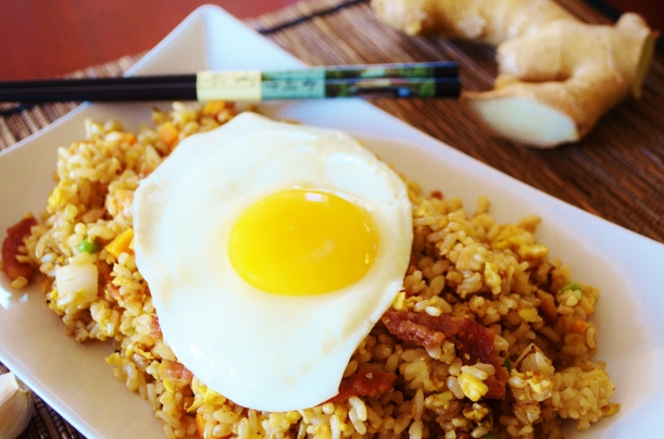 Bacon Fried Brown Rice 1