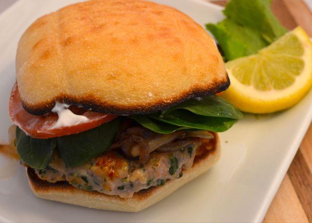 Finished Chicken Tzatziki Burger
