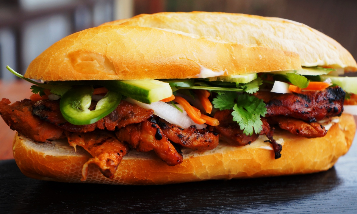 Grilled Lemongrass Pork Bánh mì