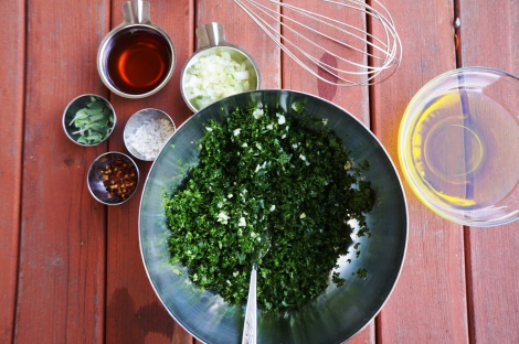 Chimichurri ingredients